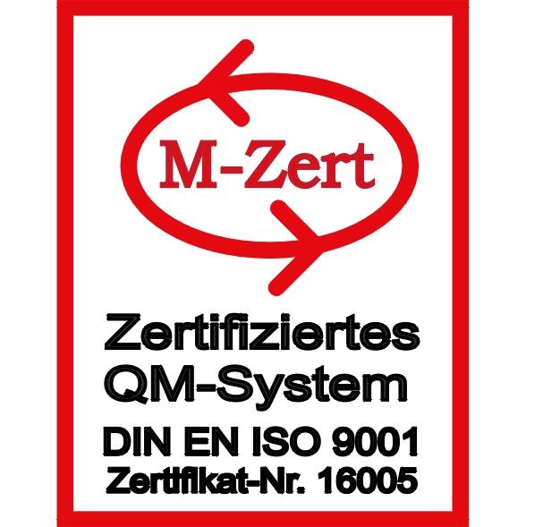 ISO 9001/2015 Zertifikat